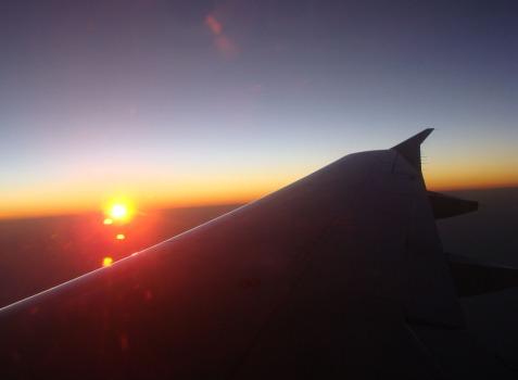 Răsărit de soare văzut din Tarom
